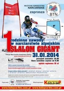 Zawody narciarskie w Kazimierzu Dolnym