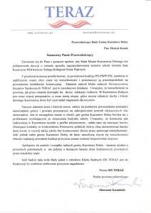 Apel do Radnych Kazimierza Dolnego