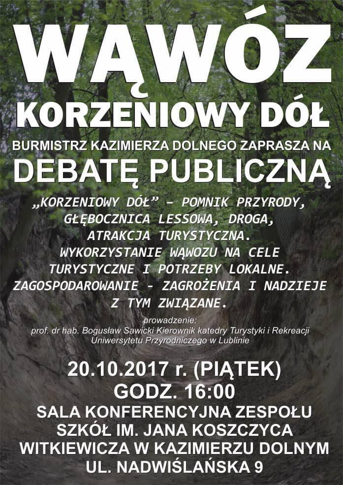 Debata publiczna - Wąwóz Korzeniowy
