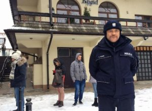 """Drugi dzień zdjęciowy """" W rytmie serca """" pod Bajglem z ulubionym policjantem Szarkiem"""