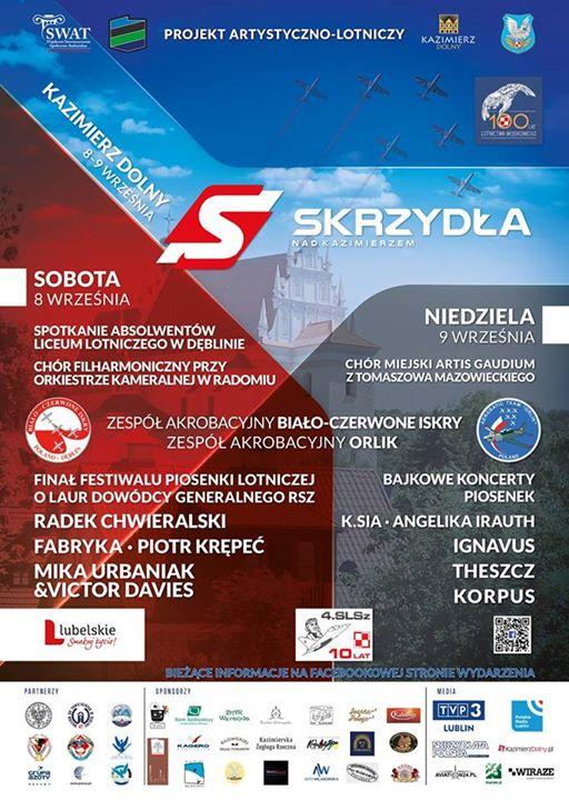 """W najbliższy weekend w naszym miasteczku odbędzie się trzecia edycja imprezy """"Skrzydła nad Kazimierzem"""".…"""