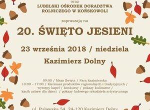 W najbliższą niedzielę zapraszamy do Kazimierza Dolnego na pełne smaków, kolorów i atrakcji 20.…