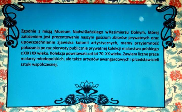 """Jeśli spędzacie weekend w Kazimierzu, zajrzyjcie koniecznie do Muzeum Nadwiślańskiego, gdzie można """"Oddychać powietrzem…"""